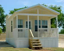 Park Model Cabins on Hill Country Rv Resort   New Braunfels